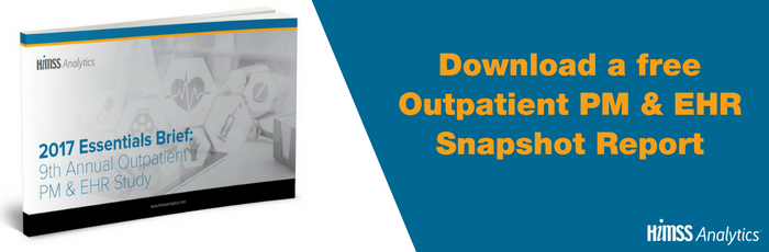 Download a free Snapshot Report of the HIMSS Analytics 2017 Outpatient PM & EHR Essentials Brief